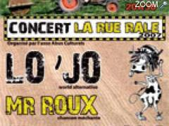 Foto CONCERT LA RUE RALE : Lo'Jo, Mr Roux, Positive Roots Band